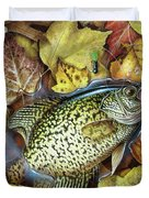 Fall Crappie Duvet Cover