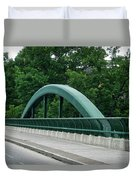 Fall Creek Gorge Bridge Cornell University Ithaca New York Duvet Cover