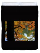 Fall Day At The Lake Duvet Cover