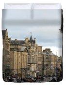 Fall Day In Edinburgh Duvet Cover