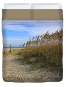 Fall Day On Tybee Island Duvet Cover