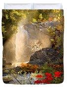 Fall Falls Mist  Dead River Falls  Marquette Mi Duvet Cover