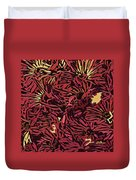 Fall Fantasy Flowers Duvet Cover
