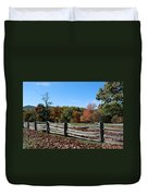 Fall Fence Duvet Cover