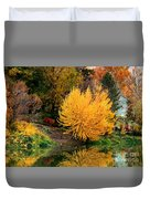 Fall Fireworks Duvet Cover