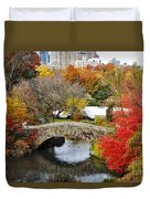 Fall Foliage In Central Park Duvet Cover