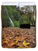 Fall Foliage At Horsetail Falls Duvet Cover