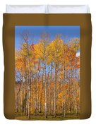 Fall Foliage Color Vertical Image Duvet Cover