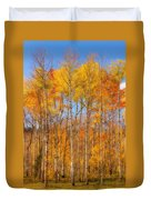 Fall Foliage Color Vertical Image Orton Duvet Cover