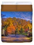 Fall Foliage Gated Estate Duvet Cover