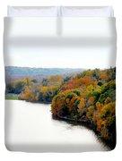 Fall Foliage In Hudson River 13 Duvet Cover