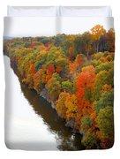 Fall Foliage In Hudson River 6 Duvet Cover