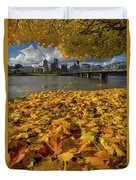 Fall Foliage In Portland Oregon City Duvet Cover