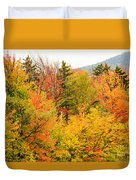 Fall Foliage In The Mountains Duvet Cover