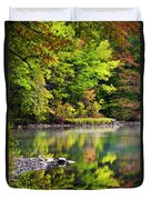 Fall Foliage Reflection Duvet Cover