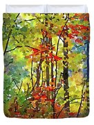 Fall Forest 2 Duvet Cover