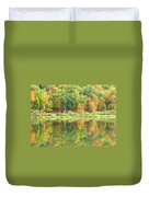 Fall Forest Reflection Duvet Cover