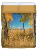 Fall From Oxbow Bend In Grand Tetons Duvet Cover