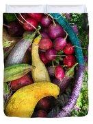 Fall Harvest Basket Duvet Cover