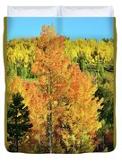 Fall Hillsides Above Dillon Reservoir Duvet Cover