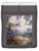 Fall In The Mountains Duvet Cover by Reed Novotny