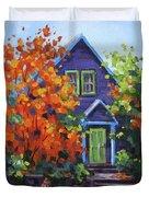 Fall In The Neighborhood Duvet Cover