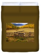 Fall In The Rockies 2 Duvet Cover