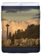 Fall In West Seattle Duvet Cover