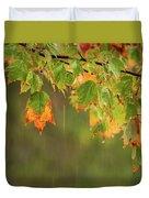 Fall-ing Rain Square Duvet Cover