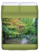 Fall Is Arriving Duvet Cover