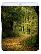 Fall Is Just Around The Corner Duvet Cover