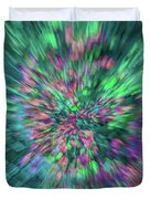 Fall Leaf Zoom Abstract Duvet Cover