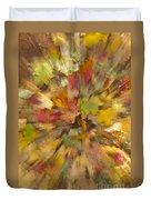 Fall Leaves Abstract Duvet Cover