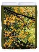 Fall Leaves In The Smokies Duvet Cover