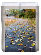 Fall Leaves Duvet Cover by Michael Tesar