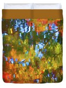 Fall Leaves On River 12 Duvet Cover