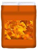 Fall Maple Leaves Duvet Cover by Elena Elisseeva