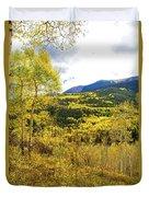 Fall Mountain Scenery Duvet Cover