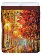 Fall Night Duvet Cover