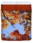 Fall Oak Leaves Up Above Duvet Cover