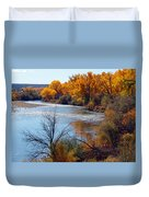 Fall On Animas River Duvet Cover