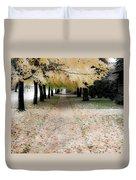 Fall On Oak Street Duvet Cover