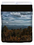 Fall On The All American Road Duvet Cover