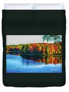 Fall On The Lake In Wisconsin Duvet Cover