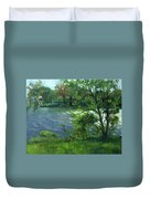 Fall On The Maumee River Duvet Cover