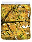 Fall On William Street Duvet Cover by Al Harden