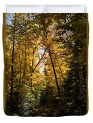 Fall Path In Golden Yellow Duvet Cover