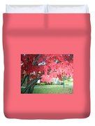 Fall Reds Duvet Cover