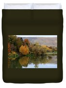 Fall Reflection Below The Hills In Prosser Duvet Cover
