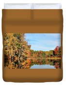 Fall Reflections On Sabattus River Duvet Cover